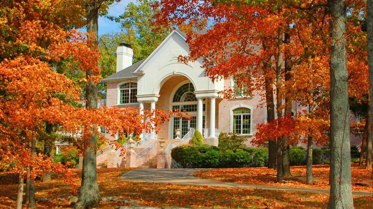 House with Fall Foliage